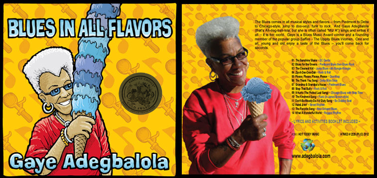 Blues in All Flavors CD cover, front and back