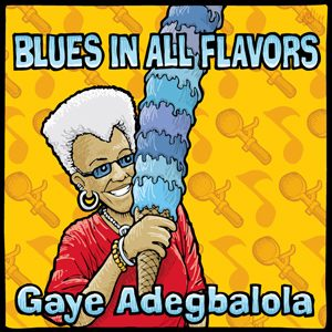 """Blues in All Flavors"" CD Cover Drawing by Mike Fluggennock"